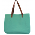 9220- MINT CANVAS TOTE BAG