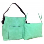 9031 - MINT PU 2PC LEATHER HANDBAG W/MINT SHOULDER BAG