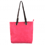 9033 - HOT PINK  LEATHER SHOPPING BAG