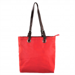 9033 - RED  LEATHER SHOPPING BAG
