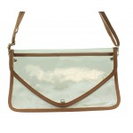 9167 - TAN LINING TRANSPARENT CLUTCH BAG