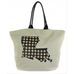 9207 - LOUISIANA STATE CANVAS TOTE