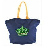 9211- NAVY CROWN CANVAS TOTE BAG