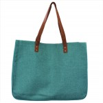 9220- TURQUOISE CANVAS TOTE BAG