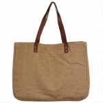 9220- CAMEL CANVAS TOTE BAG