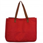 9220- RED CANVAS TOTE BAG