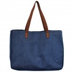9220- NAVY CANVAS TOTE BAG