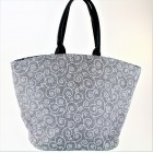 9222 - GREY AND WHITE SWIRL CANVAS TOTE