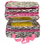 180396-ZEBRA DESIGN DOUBLE INSULATED CASSEROLE CARRIER W/HANDLE