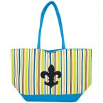 SW180598-MULTI STRIPES DESIGN INSULATED BAG W/FDL
