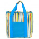 SW180608-MULTI COLOR STRIPES INSULATED BAG W/ZIPPER