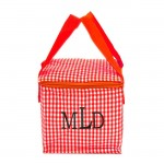 180935 - RED & WHITE GINGHAM INSULATED LUNCH BAG