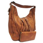 JQS30004-CAMEL VEGAN LEATHER PURSE WITH WALLET
