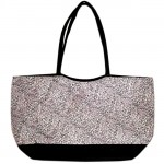180482-PINK/BLACK CHEETAH DESIGN SHOPPING OR BEACH BAG