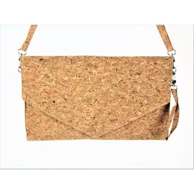 9162 - CORK MATERIAL CLUTCH BAG