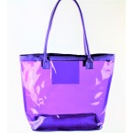 9173- PURPLE TRANSPARENT SHOPPING OR BEACH BAG