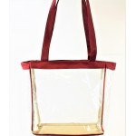 9170-RED LINING TRANSPARENT BAG