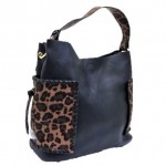 LF5073B-NAVY LEOPARD VEGAN LEATHER PURSE- 3 PIECE SET
