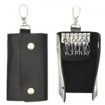 SW181131 - BLACK LEATHER / MULTI KEY CHAIN HOLDER