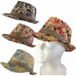 1800 - 12 PIECES BLOCKED STRAW HAT (4 COLORS)