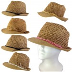 1803 - 12 PIECES STRAW HAT (6 COLORS)