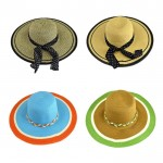 180723 - 12 PIECES FLOPPY  HAT W/ BOW  (4 COLORS) ( MONOGRAM NOT AVAILABLE )