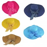 180893 -  12 PIECE FLOPPY HAT W/ BOW (5 COLORS) ( MONOGRAM NOT AVAILABLE )