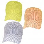 32518 - 12 PIECES COTTON SEER SUCKER CAP (3 COLORS)