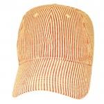32518 - RED COTTON SEER SUCKER CAP (MINIMUM 2)