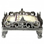 52181-SQUARE FLEUR DE LIS CANISTER BASE OR NAPKIN HOLDER