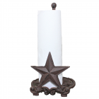 56324-CAST IRON STAR PAPER TOWEL HOLDER