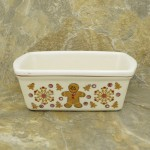 34380 - CERAMIC RECTANGULAR CHRISTMAS BOWL - COOKIE 2