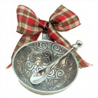 6102- SWIRL DESIGN ORNAMENT CHRISTMAS BOWL AND SPOON
