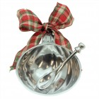 6104- WAVE DESIGN ORNAMENT CHRISTMAS BOWL AND SPOON